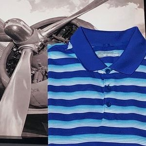 💼 Nike Blue Striped Shirt